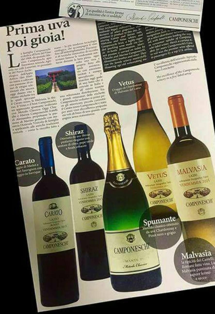 Vini Camponeschi: il complemento a uno dei nostri piatti